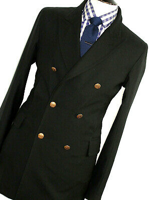 Luxury Mens Alexander Mcqueen Captain Style Coat Peacoat Overcoat Jacket 38R