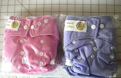 Waterproof Soft Baby Cloth Pocket Diapers with 2 Inserts Reusable, Adjustable