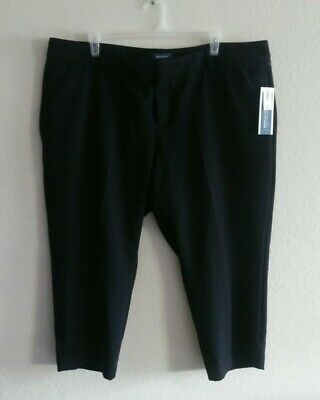 Old Navy Womens plus size 24 Harper Capri Pants Black Mid Rise Stretch Cropped