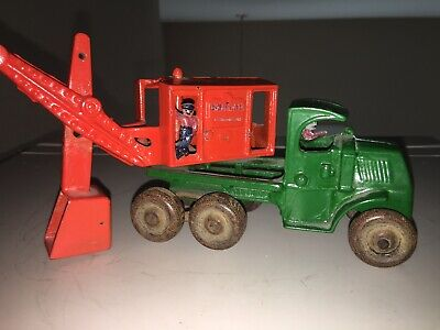 "ANTIQUE CAST IRON HUBLEY TOY STEAM SHOVEL TRUCK ""General"""