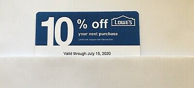 10: Lowe's Blue Card 10% Off For Home Depot + Other Comp Not Lowe's Exp 07/15/20