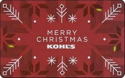 Kohl's Gift Card  $50.00.... ACTUAL CARD - NOT A DIGITAL DOWNLOAD