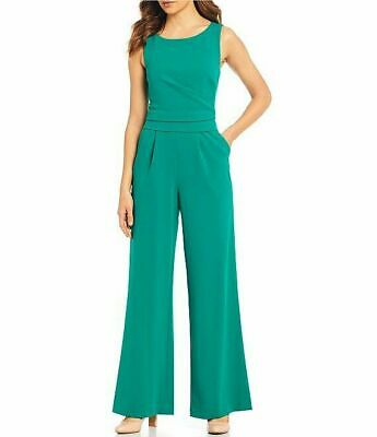 Calvin Klein NWT MEADOW GREEN Crepe Side Ruched Sleeveless Jumpsuit, size 6
