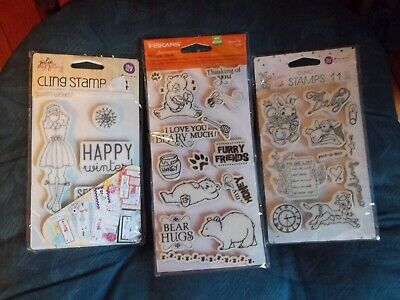 Hats 1 1-Inch by 1.5-Inch by 2.5-Inch by 3.25-Inch Prima Marketing Julie Nutting Mixed Media Cling Rubber Stamps