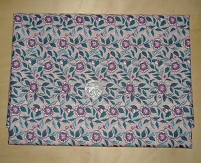 Floral In Pinks Greens & White Quilting Fabric 1/2 Yard