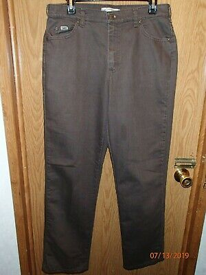 Womens Lee Relaxed Straight Leg Brown Jean Pants Size 10M Inseam 31