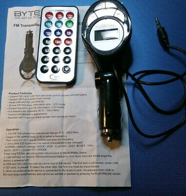Bytech FM Transmitter with Remote Control. (A8)