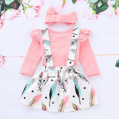 Infant Newborn Baby Girl T-shirt Top+Dress Outfit Clothes Toddler Casual Dresses
