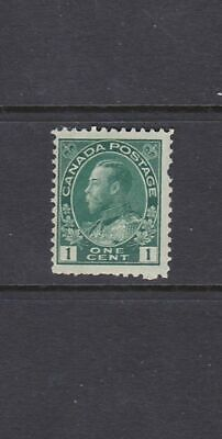 Canada - 1922 - One Cent Green King George V Admiral - Scott 104 - Mnh