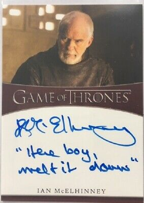 Ian McElhinney Inscription Autograph from Game of Thrones Season 8