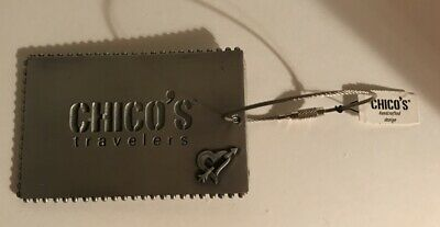 Chico's Travelers Metal Travel Luggage tag NWT Heart with Arrow