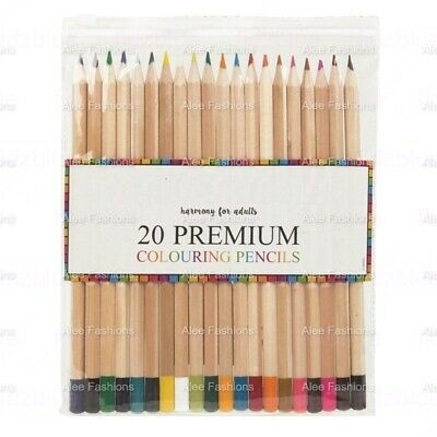 20 Premium Colouring pencils Blending Colours Adults Children Drawing Sketching