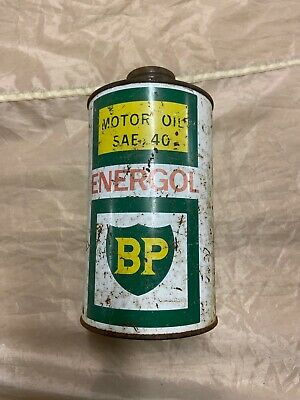 BP Energol Visco-Static 1 Quart Vintage Oil Tin