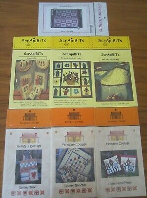 7 Patchwork Kit Instruction Packs ~Farmgate Cottage~Scrapibits~Doozie Designs