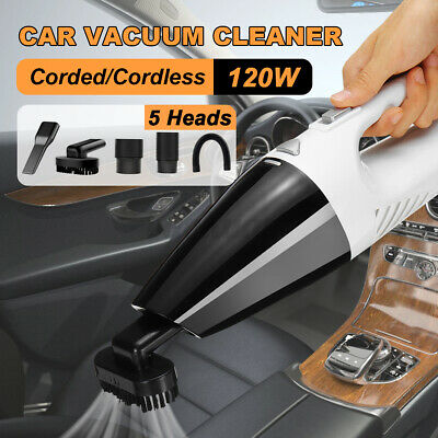 120W Car Vacuum Cleaner Wet Dry 12V USB Handheld Portable Powerful Hand Hoover