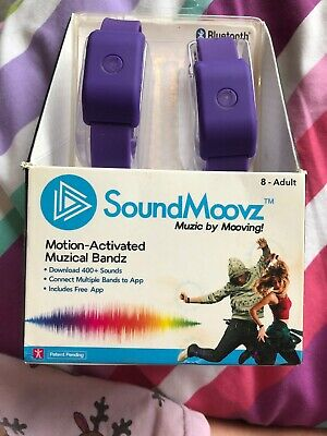 Sound Moovz Soundmoovz Purple Boxed Brand New Wearable Motion Activated Bandz
