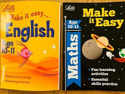 English & Math  age 10-11, Key Stage 2  Letts Book Make it Easy,Skills Practice
