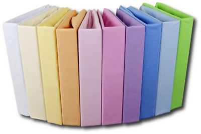 100% COTTON FITTED SHEET 80x160 cm 160x80 PLAIN COLOURS FOR  TODDLER JUNIOR BED