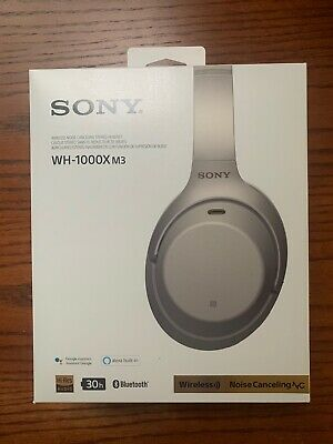 Sony WH-1000xm3 Noise Cancelling Wireless Headphones Silver