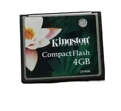 Genuine Kingston Compact Flash 4gb Memory Card 4.0GB CF Extreme Canon Etc Tested
