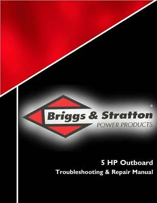 New Briggs Stratton 5-HP Outboard Engines Repair Service Manual 275110 Free S&H