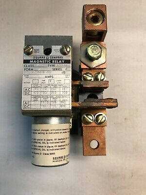 Square D 9055-A0124R Dashpot Magnetic Current Relay Series A