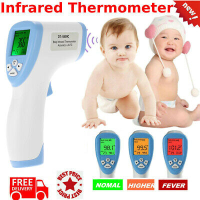 Digital Non-contact IR Infrared Thermometer Forehead Adult Body Temperature Test