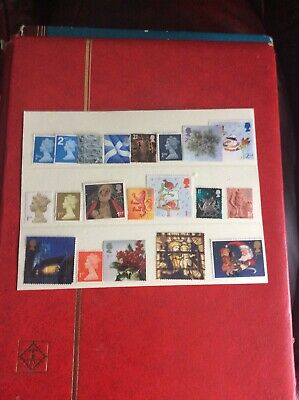 GB QE11 20 DECIMAL  2nd AND 1st CLASS STAMPS  NO GUM.. UNFRANKED.... OFF PAPER