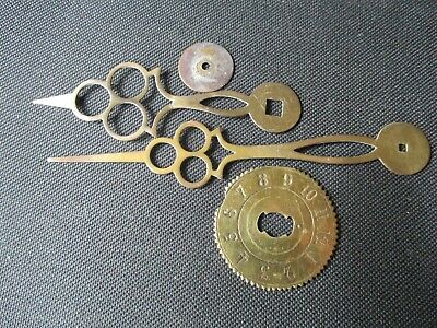 French Morbier Long case Clock fingers made of brass.