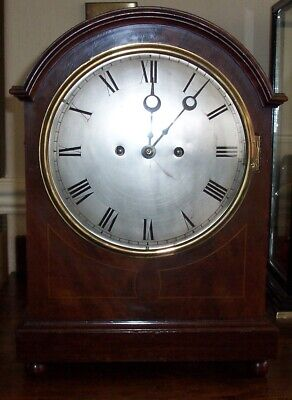 Antique twin fusee Bracket clock