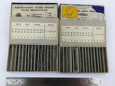 Lot of Vintage Watchmakers Steel Click Spring Wire For Repairs (T31)