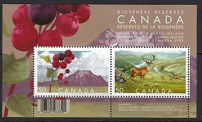 CANADA 2005- # 2106b BIOSPHERE RESERVES SOUVENIR SHEET OF 2- MNH