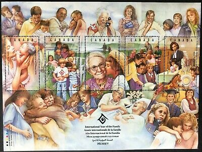 Canada 1994 # 1523 -'Un International Year Of The Family'-Ss Of 5 Stamps  Mnh