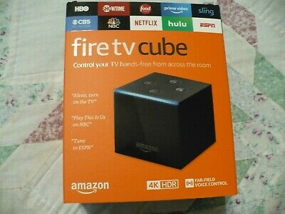 Amazon Fire TV Cube with Alexa and 4K Ultra HD Streaming Media Player