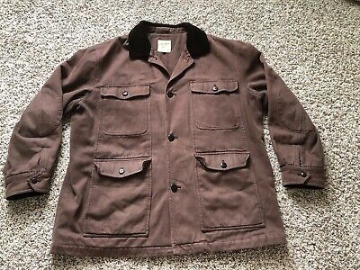 Brooks Brothers Outerwear Field Barn Coat Jacket Cotton Mens XL Brown Italy EUC