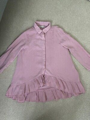 Zara Girls Pink Top- Age 7 - But Size 6 Would Be Fine As Wore Over Leggings