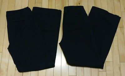 LOT OF 2 Eddie Bauer MERCER Fit Navy Blue Stretch Womens Khaki Pants Size 8