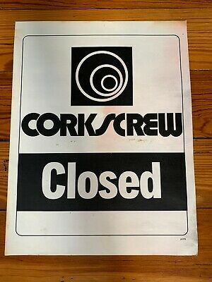 Cedar Point Amusement Theme Park Ticket Booth Sign Corkscrew Roller Coaster