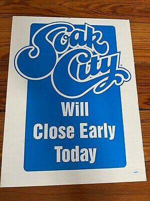 Cedar Point Amusement Theme Park Ticket Booth Sign Soak City Waterpark VINTAGE