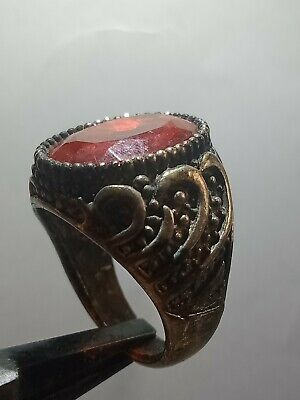 Antique Rare Ring Silvered Legionary Roman Old Ring Authentic Artifact
