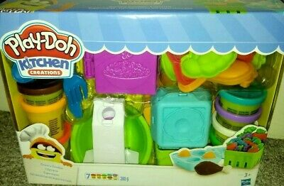 Playdoh Kitchen Creations Grocery Goodies 20 piece set 7 tubs playdoh BRAND NEW