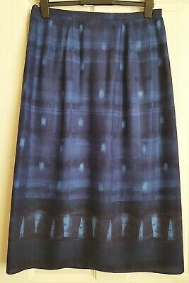 Lovely 'St Michael.M&S' Blue Multi, Wrap over Skirt Size 18 Pre Owned