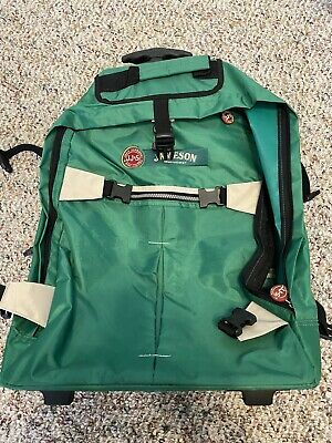 Jameson Irish Whisky Official Backpack W/ Wheels Luggage Roller Bag Green RARE