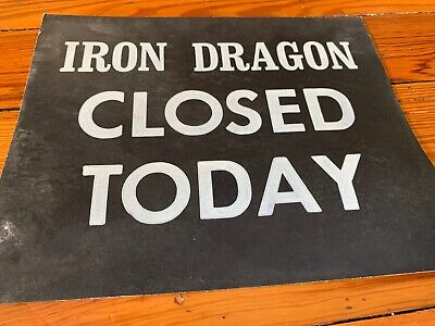 Cedar Point Amusement Theme Park Ticket Booth IRON DRAGON roller Coaster Sign