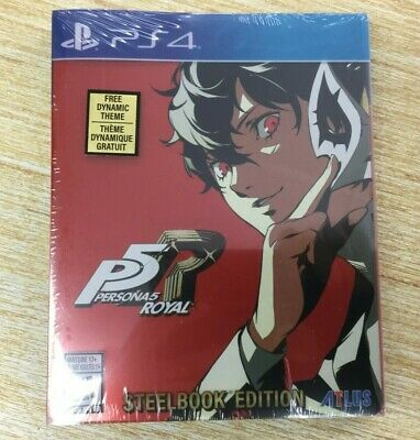 NEW Persona 5 Royal: Steelbook Launch Edition (PS4 / PlayStation 4) SHIPS FAST