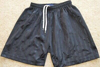 School Black PE shorts from Falcon Sport 24-26 in drawstring waist