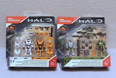 HALO UNSC MARINES FLAME THROWER CUSTOMIZER PACK FDY41 62PC MEGA CONSTRUX W8 18//5