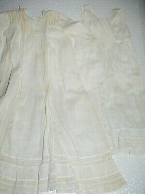 cHRISTENING GOWN & SLIP ANTIQUE CLOTHING BAPTISM RELIGIOUS CEREMONY VTG neocurio