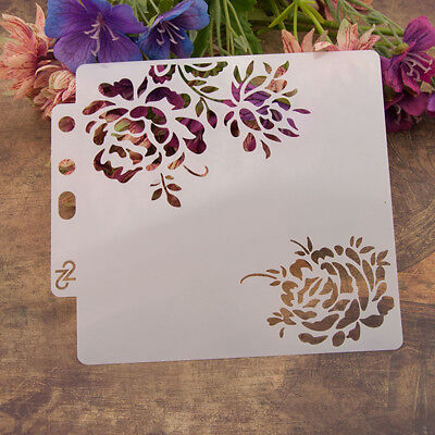 Reusable rose Stencil Airbrush Art DIY Home Decor Scrapbooking Album Craft-PN