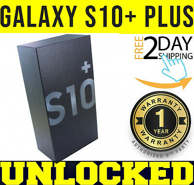 Samsung Galaxy S10+ Plus G975U1 128GB PRISM BLACK (FACTORY UNLOCKED)  *SEALED*